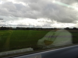 Countryside out the train window