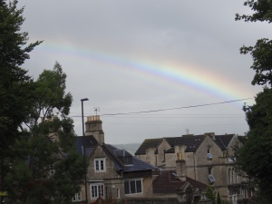 A rainbow to welcome us to Bath