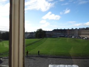 View from Royal Crescent # 1 which is now a museum