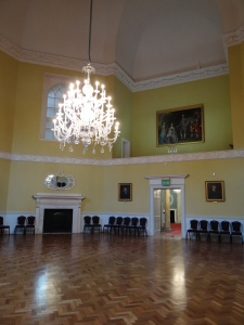 Part of the Assembly rooms with the small musicians area in the upper balcony area