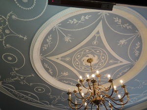 Wedgewood ceiling in Barclays bank.
