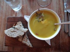 The best dinner yet - pumpkin soup