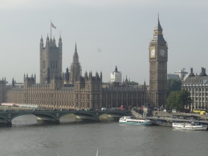 from the London Eye - Parliament