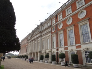 Back side leading out to the gardens of Hampton Court