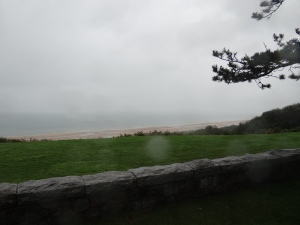 Looking out at Omaha Beach from the cemetary