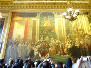 We saw this huge painting In the Louvre.  They are both original.  This is the second one he did.