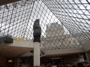 Just inside the Louvre