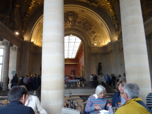 My birthday lunch in the Louvre cafe