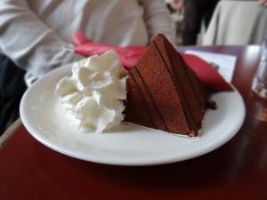 My birthday cake -notice the pyramid cake