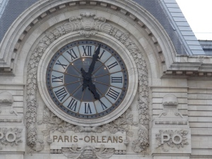 The clock from the outside of the D'Orsay