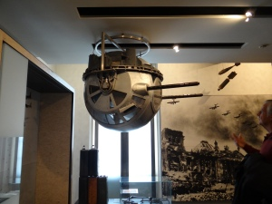 The ball turret for the machine guns from a b-17