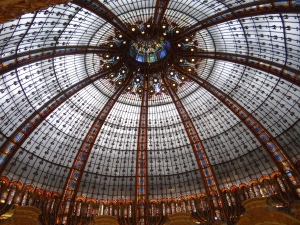 The shopping Gallerie Lafayette.