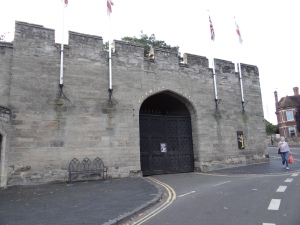 One of the old entry gates to Warwick Castle