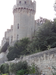 Warwick Castle from Mill street gardens