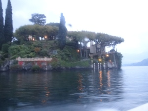From the speed boat looking back at the villa