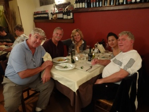 Chowing down with old friends at Quatro Pass