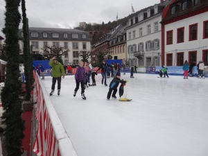 Ice skating in the town square