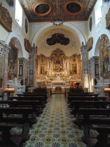 One of the 15 churches in the small town of Sorrento