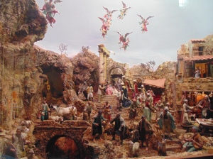 Church's nativity scene