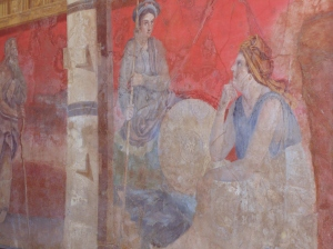 frescoes taken from the walls at Pompeii