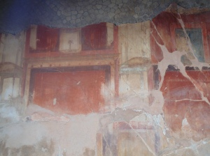 frescoes in some of the excavated homes of Herculanium