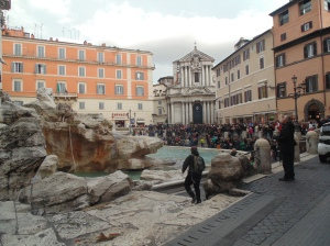Trevi Fountain!  Look at all the tourists - on a slow winter day!