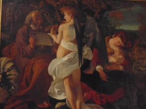 "Caravaggios ""Rest During the Flight to Egypt"""