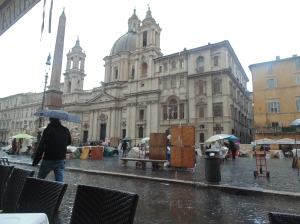 Piazza Navona in the rain