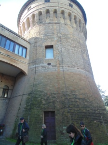 I can't remember which one but one of the pope's wanted to be more isolated so he lived in this tower within the Vatican property