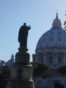 St. Peter looking over the church