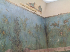 They have preserved four whole walls of this Garden Painting fresco