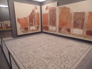Ancient fresco walls and mosaic floors