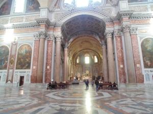 Santa Maria degli Angeli- 8 of those red granite columns are original from ancient Rome