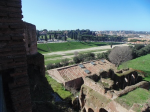 Looking at the Circus Maximus from an emperor's palace