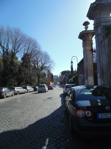 Looking south along the Appian
