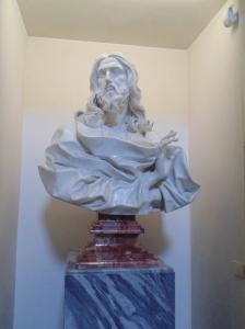 A Bernini sculpture in the church