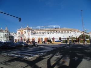 Bull fighting arena
