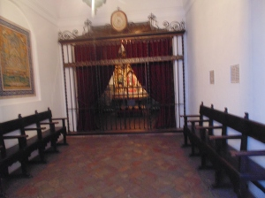 Matador's chapel for prayer before the fight
