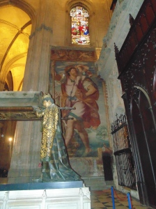 Mural of St. Christopher from 1584