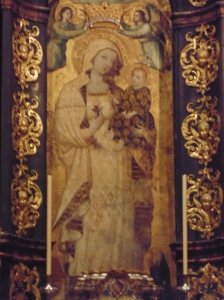 Oldest art in this church- dating back to 1248.  Gilded fresco of the Virgin Antigua