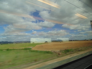Train ride up to Madrid